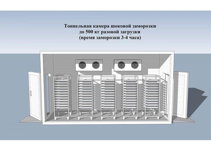 Камера шоковой заморозки КШЗ - 500кг- 240минут