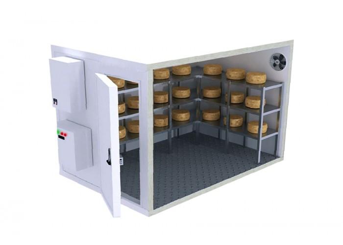 Холодильные климатические камеры для созревания сыра.